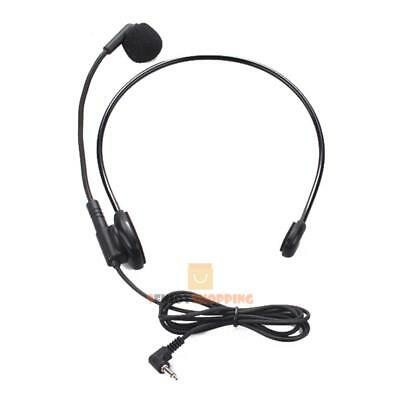 Cable Head-mounted Headset Microphone Flexible Wired Boom Amplifie JF#E
