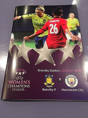 Brondby IF v Manchester City Women FC Football Programme (Season 2016)