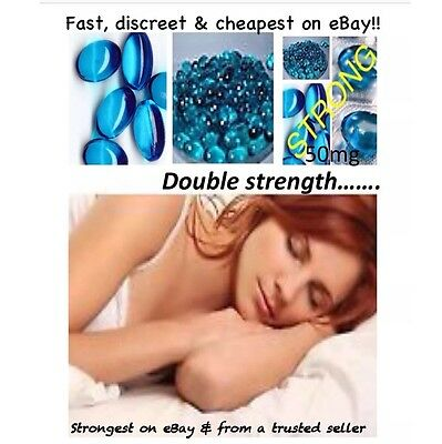 32x Strong SLEEPING Pills TABLETS 50mg Blue Softgels 🎀 BEST PRODUCT SELLS FAST