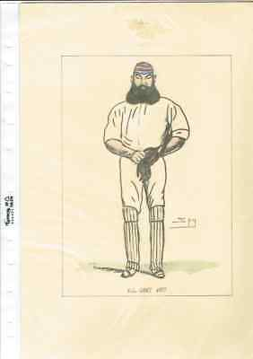4 X Prints Of Old Cricketers