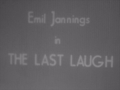 8mm Film The Last Laugh Emil Jannings 1924 1600ft B/W Silent Standard 8