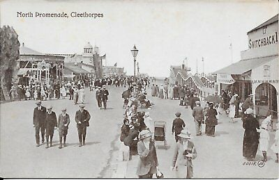 Old Very Animated Postcard Of  The North Promenade Cleethorpes