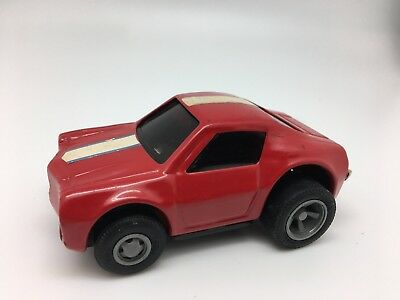 Vintage Red Tonka Race car with racing stripe