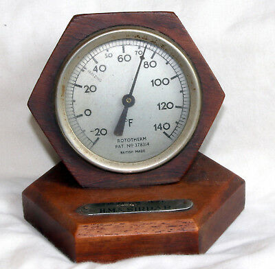 royal navy teak desk thermometer hms sirdar