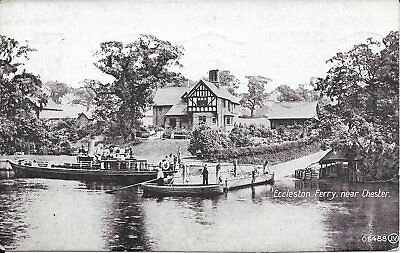Old Postcard Of Eccleston Ferry Near Chester