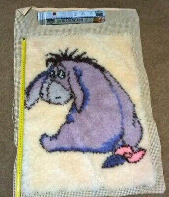 Disney Latch hook rug Eeyore.
