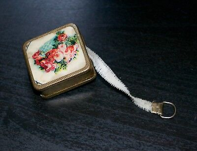 Vintage Gilt Celluloid Tape Measure Sewing Collectable