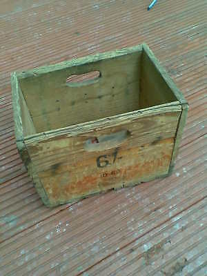 Vintage sheperd neame BEER  Wooden Beer Bottle Crate 1960s shabby shick storage