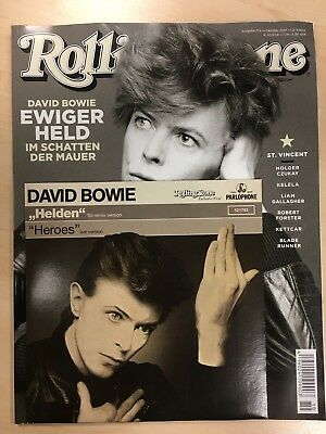 """Bowie Heroes Special - Germany only copy of Rolling Stone with 7"""" vinyl single"""