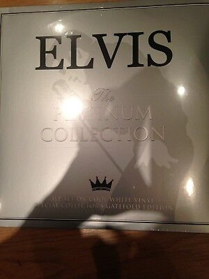 Elvis The Platinum Collection 3 LP Set On Cool White Vinyl Limited Edition