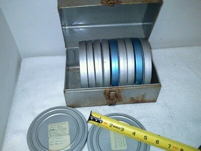 Lot of 11 1950s  Film Reel and Can sets Eastman Kodak 5 Inch