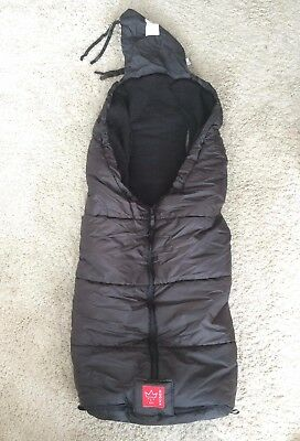 Kaiser Thermo Iglu Black Universal Fitting Footmuff - Long for Toddlers