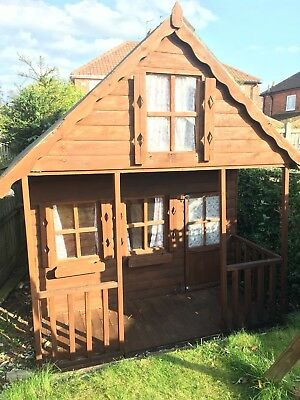8x8 Childrens Wooden Playhouse Two Storey Kids Mini Chateau Tanalised T&G Den
