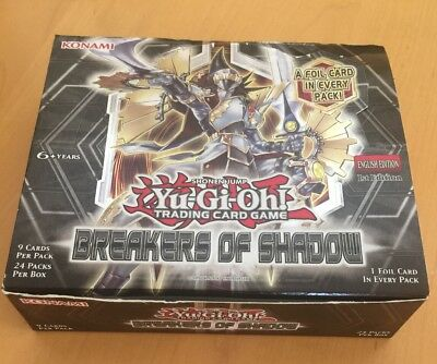 Yugioh Breakers Of Shadow Box: 24 Packs, 9 Cards/Pack, 216 cards - OPEN MINT