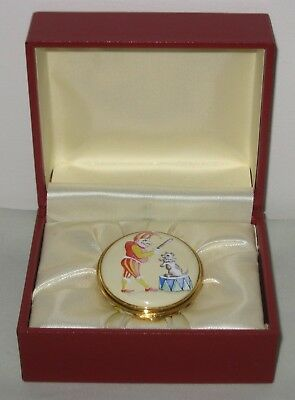 Punch the Puppet & Toby Enamel Box ~ Retailed by Harrods (Boxed)