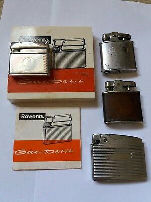 Vintage Pocket Lighter Lot. Rowenta. Simson. Ronson. 4 lighters
