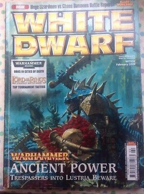 White Dwarf 350 February 2009 Warhammer Ancient Power, 40k LOTR Strategy GW