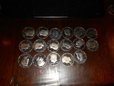 Lot Of 17 Us Proof Kennedy Half Dollar Coins