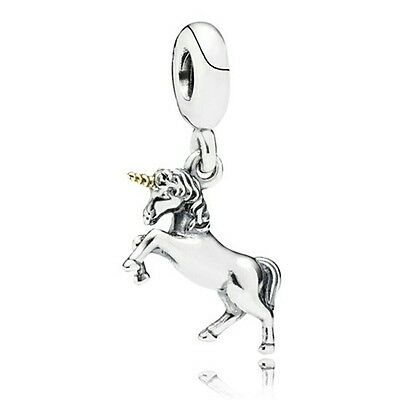 Silver And Gold Unicorn Dangle Charm