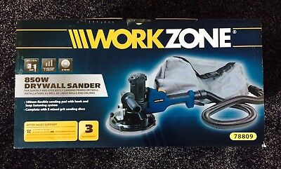 Workzone 850W Drywall Sander + 8 Sanding Discs - Hook And Loop Fastening