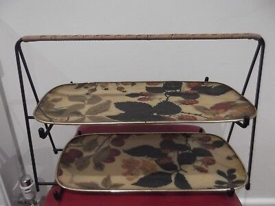 Vintage Sandwich/tea Tray On Stand - Chalford Glos. Arnold Design