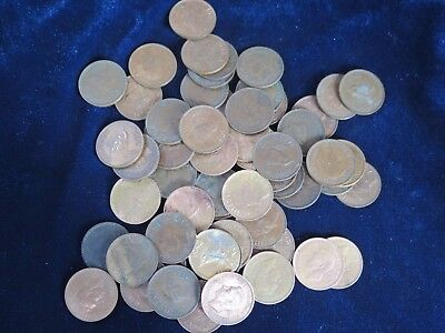 Bulk Lot 60 x King George VI Farthing Coins Mixed Dates