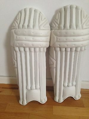 Cricket Pads Cricket Batting Pads NEW Plain White Leather. LH