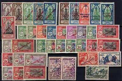 P36603/ Inde Fr / French India – 1941 / 1943 France Libre Neufs / Mint 391 €