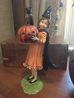 "12"" KD Vintage Witch Halloween Doll Figure Girl"