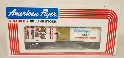 "American Flyer #6-48311 ""seasons Greetings"" 1991 Christmas Box Car-Nib!"