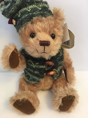 """Brass Button Bears Roscoe The Bear of Joy Fully Jointed with Adorable Face 12"""""""