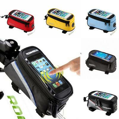 ROSWHEEL Universal Cycling Bike Bicycle Front Frame Bag Pouch Phone Holder Case