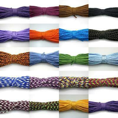 25-100FT 550 Paracord Parachute Cord Lanyard Mil Spec Type III 7 Strand Core #03