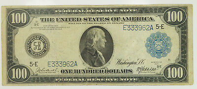 1914 Series $100 Hundred Dollar Richmond Federal Reserve Note F-1100 K30
