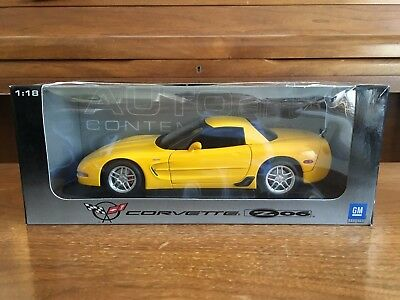 AUTOart 2001 Chevrolet Corvette Z06 C5 Yellow 1:18 Diecast Model RARE!