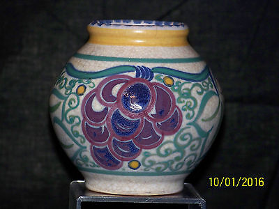 Poole Carter Stabler & Adams Hand Painted Art Deco c1920's Art Pottery Vase
