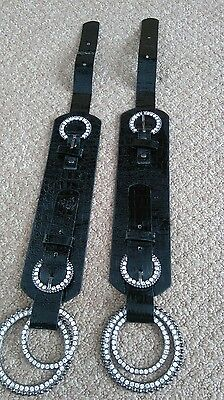 Detachable diamanté bling boot buckles