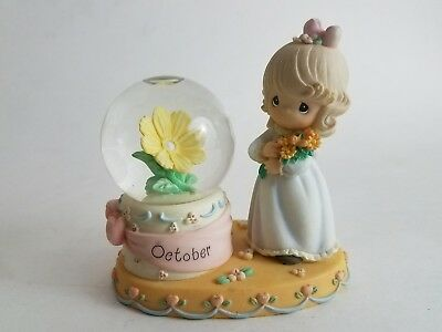 Enesco PRECIOUS MOMENTS October Birthstone Snow Globe Waterball 2000 PMI