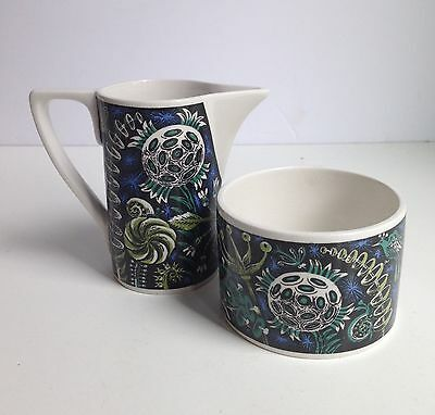 Vintage Portmeirion Susan Williams Ellis MAGIC GARDEN Creamer & Sugar Bowl