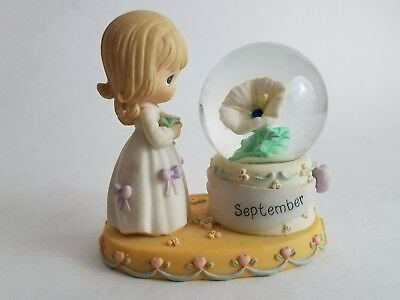 Enesco PRECIOUS MOMENTS September Birthstone Snow Globe Waterball 2000 PMI