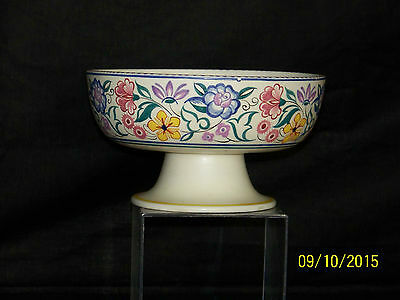 Poole Studio Art Pottery Centerpiece HandPainted Fruit Bowl w/Pedestal Shape464