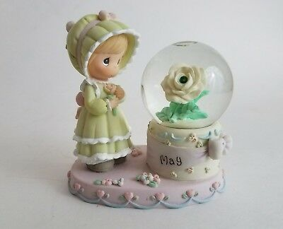Enesco PRECIOUS MOMENTS May Birthstone Snow Globe Waterball 2000 PMI