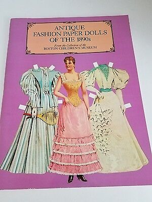 Antique Fashion Paper Dolls of the 1890s Boston Children's Museum 1984 NEW