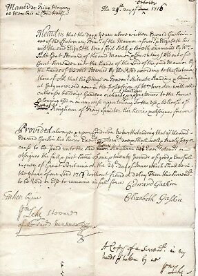 Tring Magna, Frogmore, Hertfordshire.1711 & 1716 Documents. Gift and Surrender.