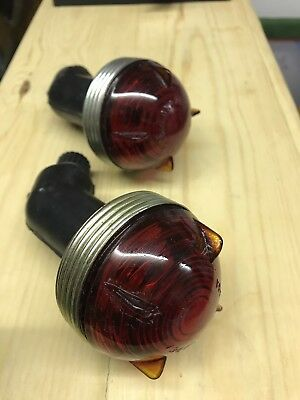 Land Rover series 2 2a/3 rear military brake lights .new old stock .genuine item