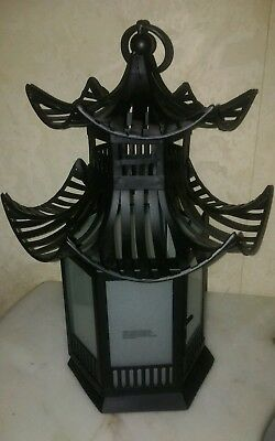 Pagoda inspired Lantern Candleholder Home Decor Chinoiserie Chic
