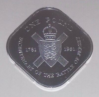 Jersey,  1981  Silver Proof One Pound Coin