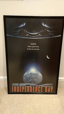 "Original INDEPENDENCE DAY Framed Cinema Poster 36"" X 24"" Will Smith 1996"