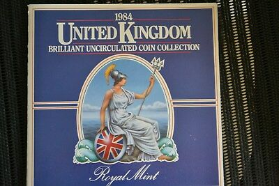 1984 United Kingdom Royal Mint Uncirculated 8 coin collection set