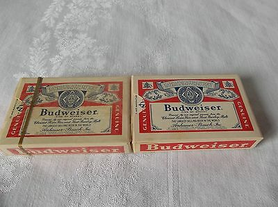 2 Sets of Budweiser Playing Cards 1 Sealed 1 Open complete